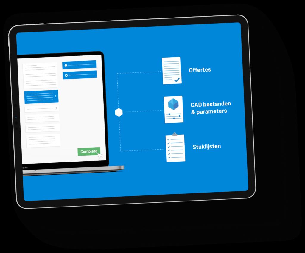 iPad demo producten samenstellen maakindustrie